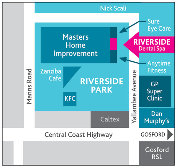 Riverside-Dental-Spa-Contact-Map